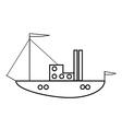 Ship icon vector image