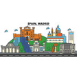 spain madrid city skyline architecture vector image vector image