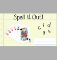 spell it out cards vector image vector image