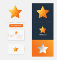 star logo premium vector image vector image