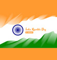 stylized flag of india poster day of the republic vector image vector image