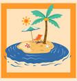 summer island holiday vector image vector image