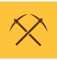 The pick icon Pickax symbol Flat vector image vector image