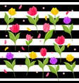 tulip flowers pattern vector image vector image