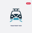 two color tram front view icon from vector image vector image