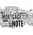 what you may not know about your mortgage note vector image vector image