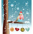 Winter Bird vector image vector image