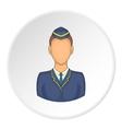 Woman train conductor icon cartoon style vector image vector image