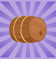 wooden barrel of alcohol drink vector image