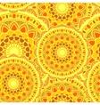 seamless mandala sun yelow vector image