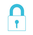 blue color silhouette of padlock icon vector image