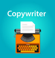 copywriter jobs typing machine typewriter office vector image