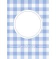 Retro blue vintage card or invitation with checker vector image