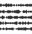 Sound recorder set Equalizer music wave vector image