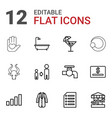 12 sign icons vector image vector image