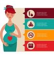 Pregnancy and birth infographics icon set