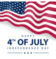 4th july celebration happy independence day vector image