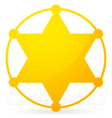 6-pointed sheriff star badge vector image