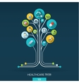 Abstract medicine background Growth tree concept vector image vector image