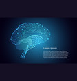 abstract technology futuristic concept brain vector image