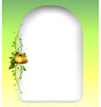 An empty space with a vine plant vector image vector image