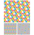 Background with grey and multicolored cubes vector image vector image