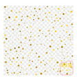 background with scattered gold confetti isolated vector image vector image