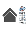 Base Building Flat Icon With Bonus vector image vector image