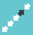 black arrow in crowd vector image