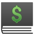 Bookkeeping Book Gradient Icon vector image