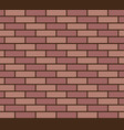 brick wall seamless texture vector image