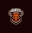 bulls esport gaming mascot logo template vector image vector image
