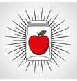 canned fruit in mason jar vector image vector image