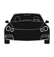 car single icon in black style for designcar vector image vector image