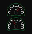 car speedometer set vector image vector image