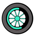 car wheel icon icon cartoon vector image