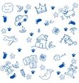 Children toys doodle art vector image vector image