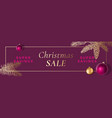 christmas sale abstract frame greeting vector image vector image