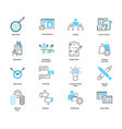 co collaborate marketing icon collection vector image vector image