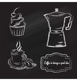 coffeetime set vector image vector image