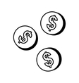 Coins money cash vector image vector image