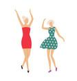 dancing people in club women having fun disco vector image vector image