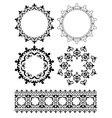 decorative design elements - ornaments vector image vector image