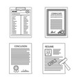 design of form and document symbol vector image vector image