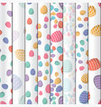 easter seamless pattern colored eggs with 8 vector image vector image