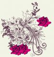 fashion floral design vector image