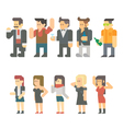 flat design party people set vector image