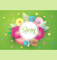 flower paper cut spring design template vector image vector image