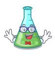 geek science beaker character cartoon vector image