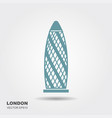gherkin building the city of london england uk vector image vector image